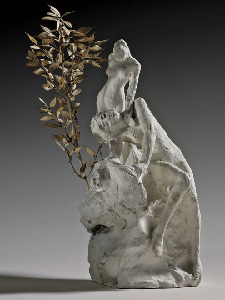 The combinatory Rodin: a plaster assemblage of a female nude from The Eternal Idol (1890-93) and the Female Nude  Seated on a Rock, with a Holly Branch (after 1900)