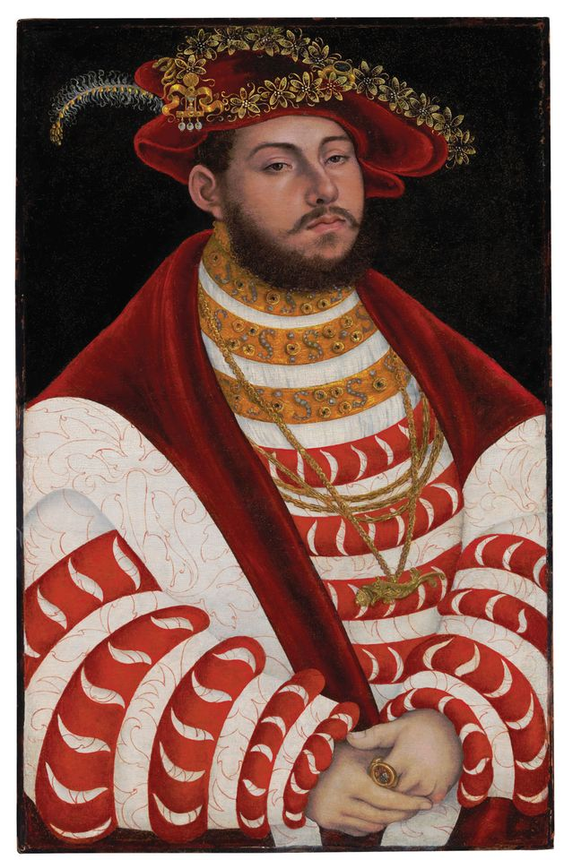 Lucas Cranach the Elder, Portrait of John Frederick I, Elector of Saxony (around 1530s)