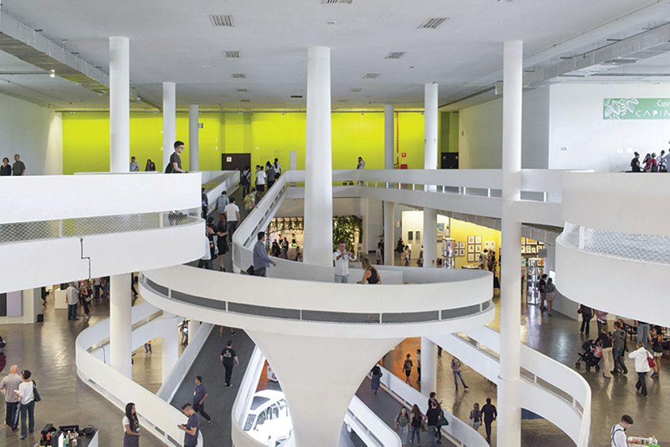 Inside the Pavilion of SP-Arte 2017
