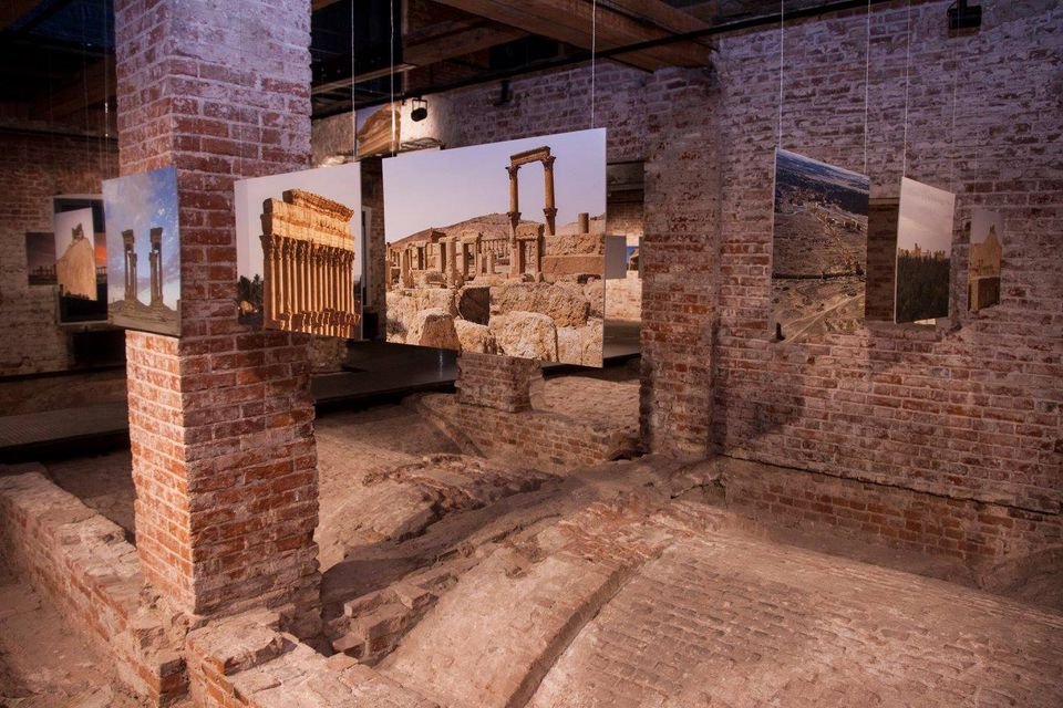 The exhibition at the State Museum of Architecture (until 23 March) includes photographs and drone footage of Palmyra  taken in 2016 by a team of archaeologists and antiquities experts from the Hermitage and the Institute of the History Material Culture of the Russian Academy of Sciences