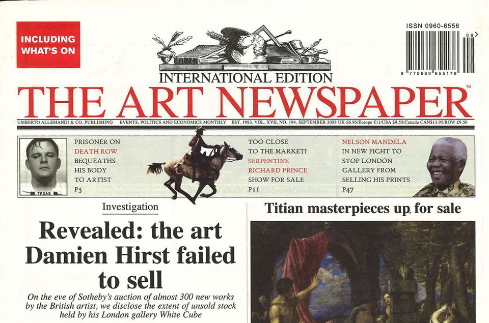 We broke news of unsold works by Damien Hirst in 2008