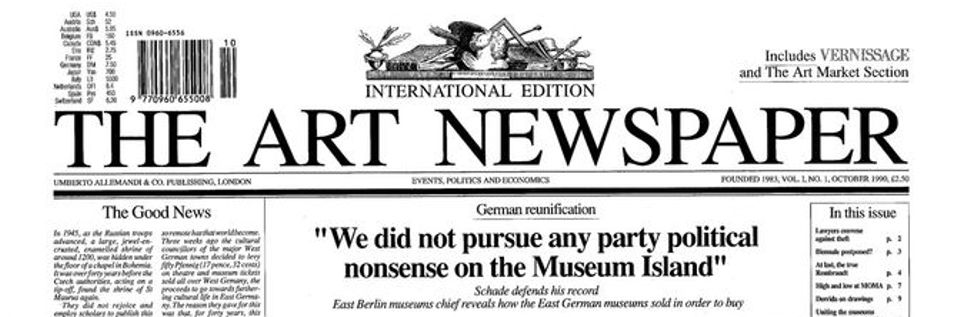 The first issue of The Art Newspaper