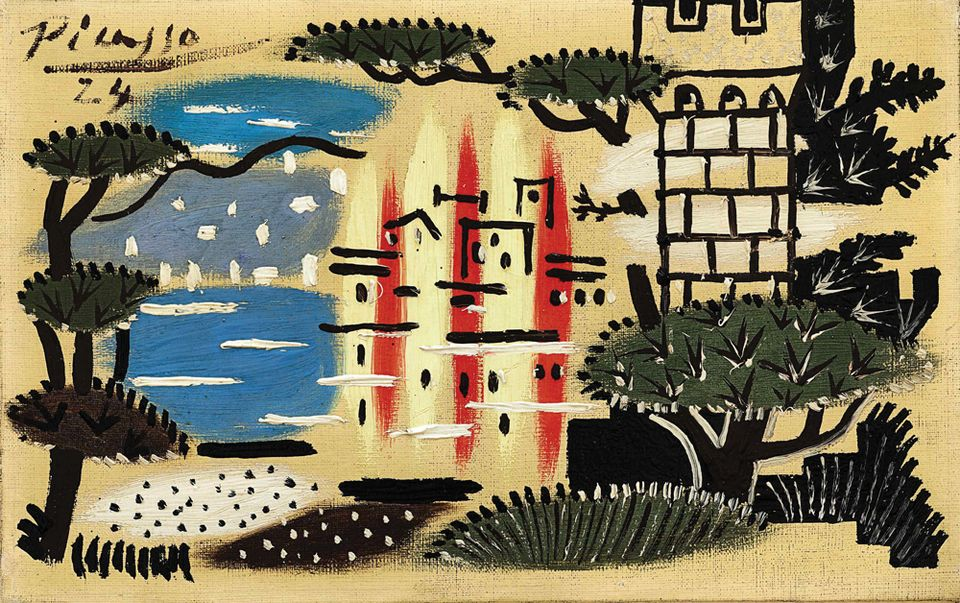 Picasso's painting of Juan-les-Pins in France (1924) is due to go under the hammer at Sotheby's Hong Kong during the fair