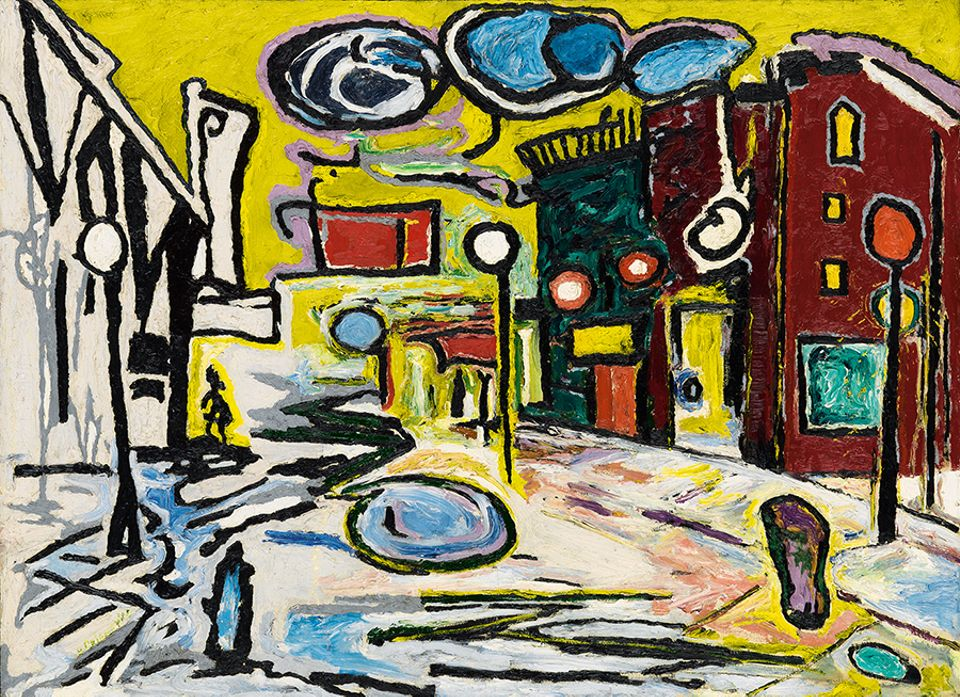 Beauford Delaney, Untitled (Village Street Scene), 1948