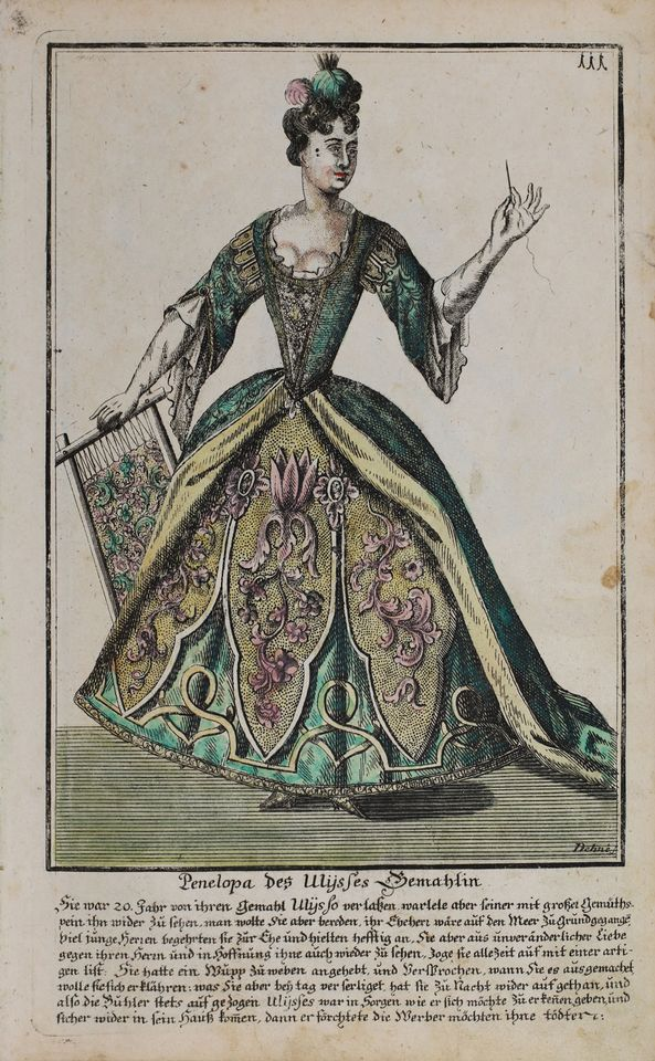 The venue will be used as a museum as well as a setting for concerts. This is a picture of a Baroque-era theatre costume by Penelope from the Bayreuth engraving collection.