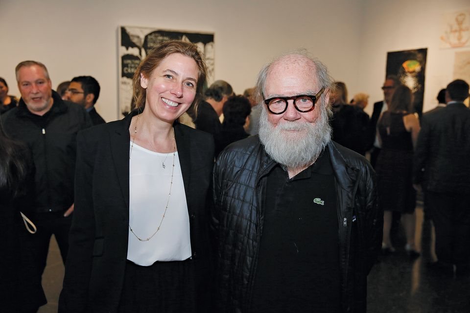 "Whitney McVeigh and Paul McCarthy during the opening reception for ""Plato in L.A. Contemporary Artists's Visions"" at the The Getty Villa on Tuesday, April 17, 2018, in Malibu, California"