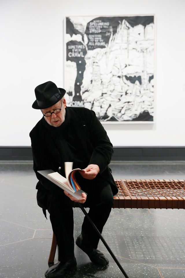 "Joseph Kosuth during the opening reception for ""Plato in L.A. Contemporary Artists's Visions"" at the The Getty Villa on Tuesday, April 17, 2018, in Malibu, California"