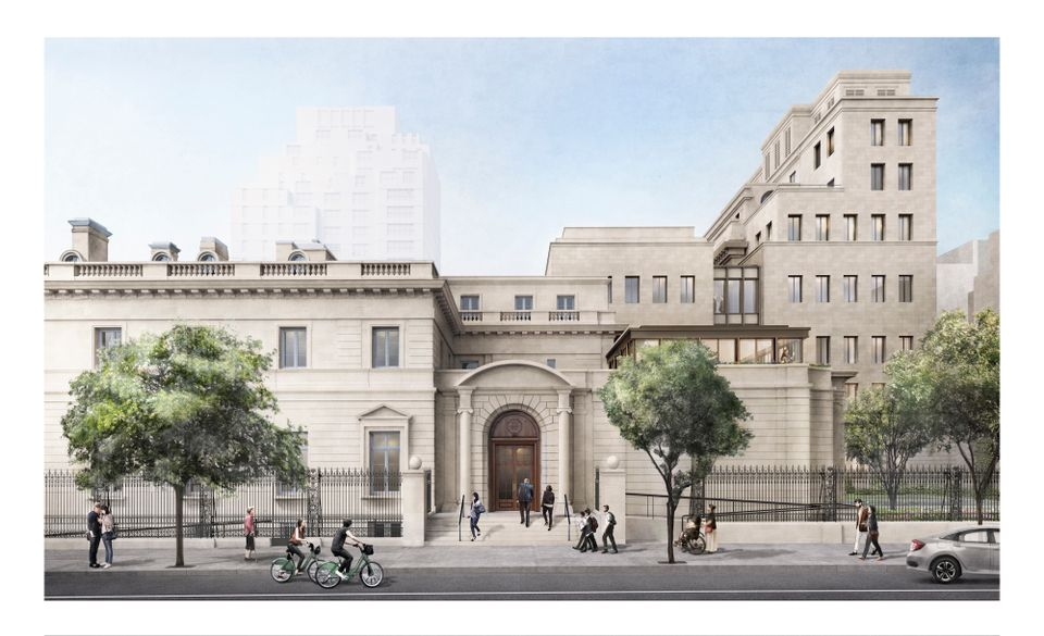 Rendering of the Frick Collection expansion from 70th Street