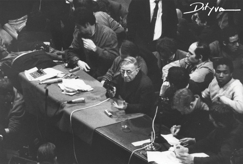 Sartre's rallying call to students at the Sorbonne was a pivotal moment