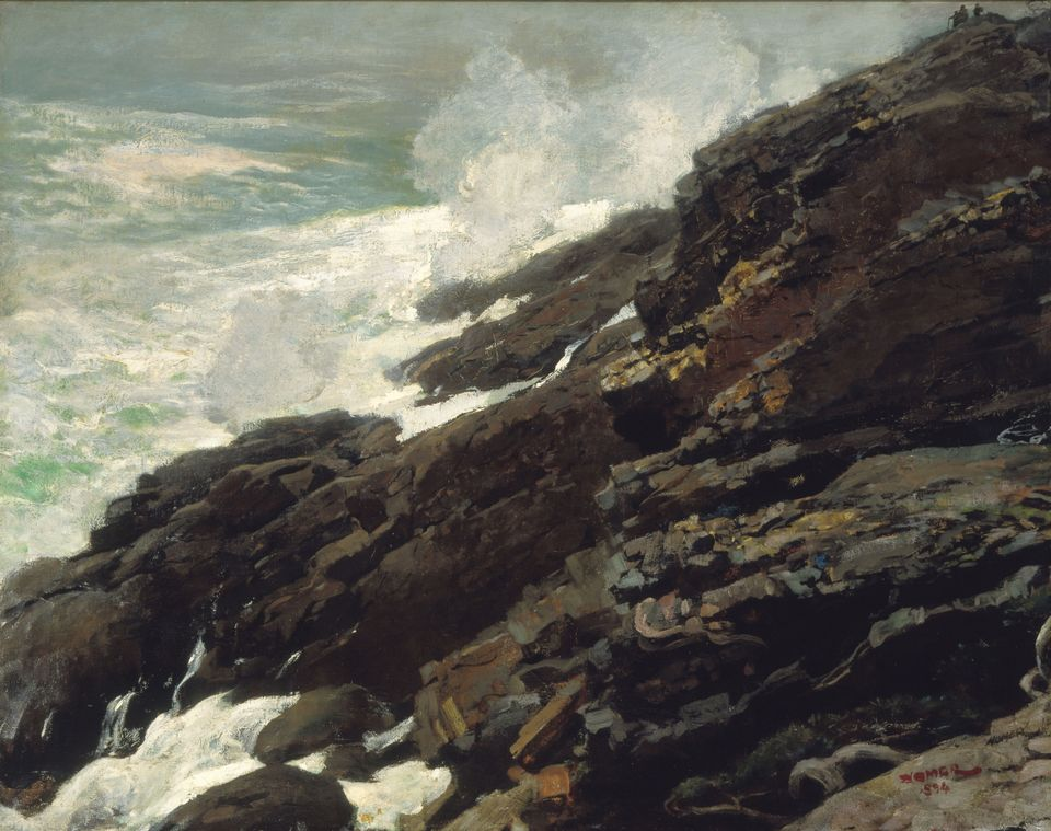 Winslow Homer, High Cliff, Coast of Maine (1894). Smithsonian American Art Museum, Gift of William T. Evans