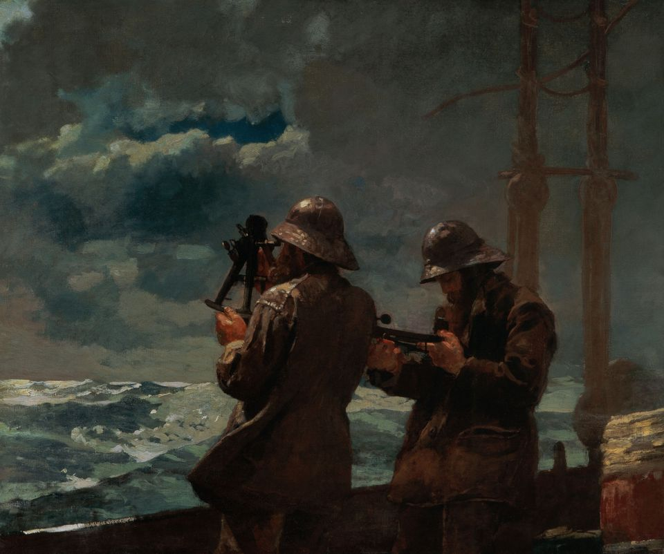 Eight Bells, 1886, oil on canvas by Winslow Homer. Gift of anonymous donor, Addison Gallery of American Art, Andover, MA.