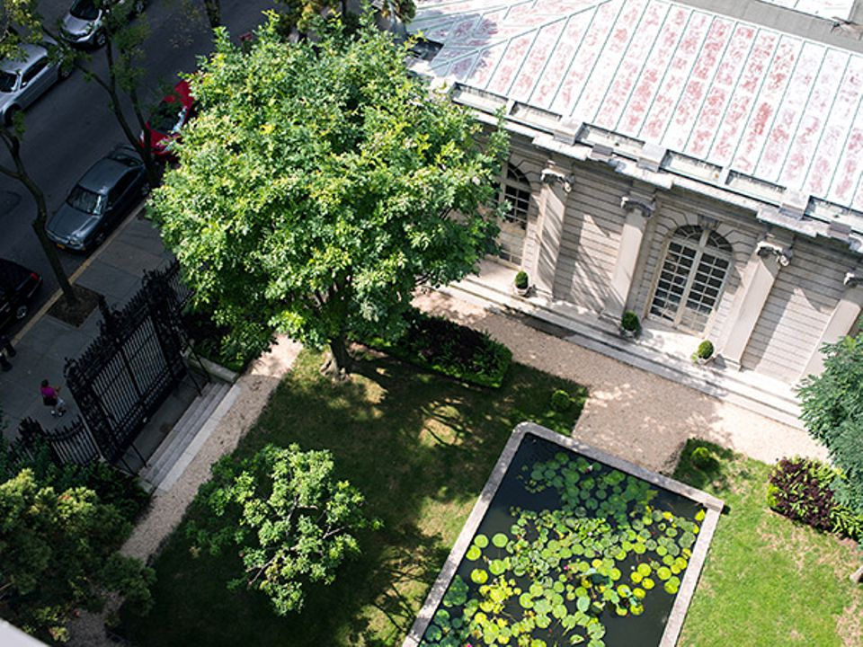 A view of the Frick's 70th Street Garden