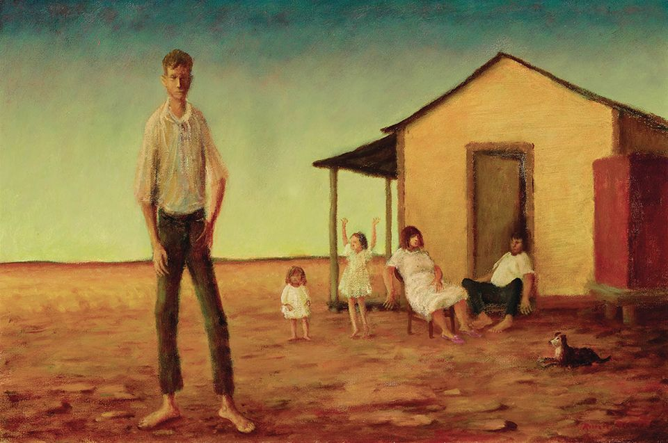 Russell Drysdale, Evening on Stony Plains, 1978