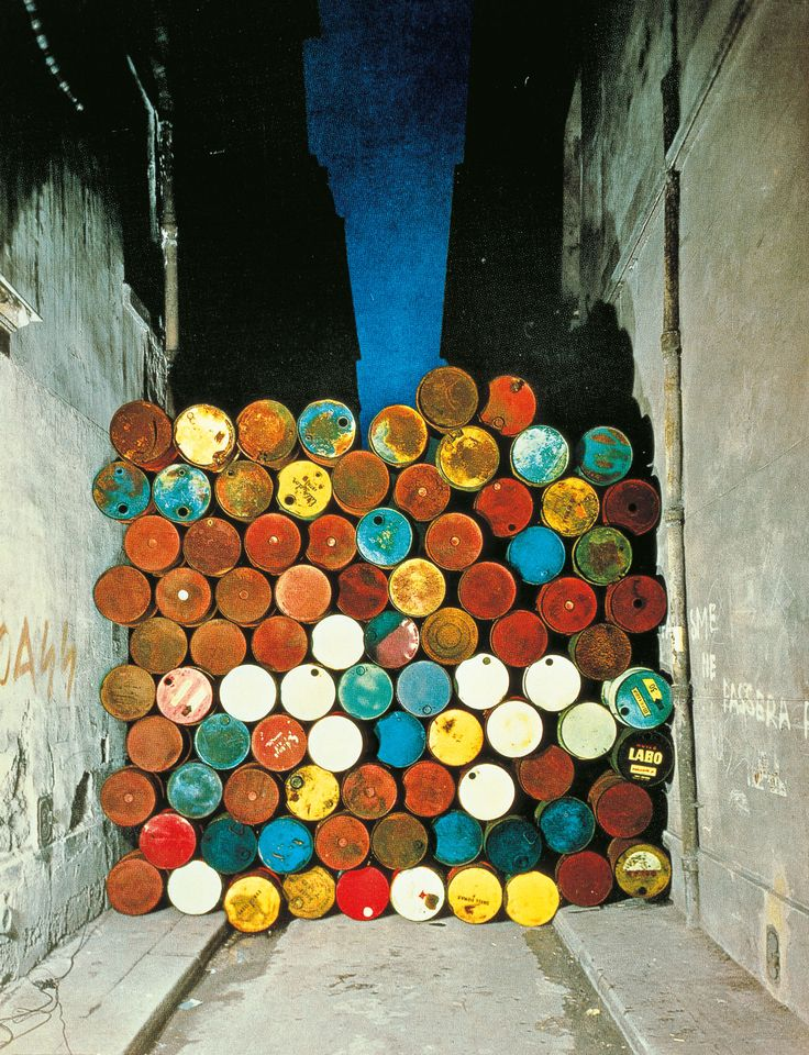 Wall of Oil Barrels - The Iron Curtain