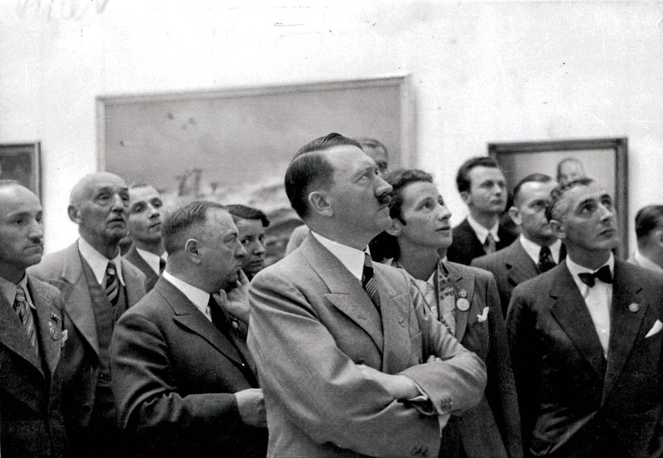 Hitler at the Haus der Kunst in Munich, shortly before the infamous Degenerate Art show of 1937