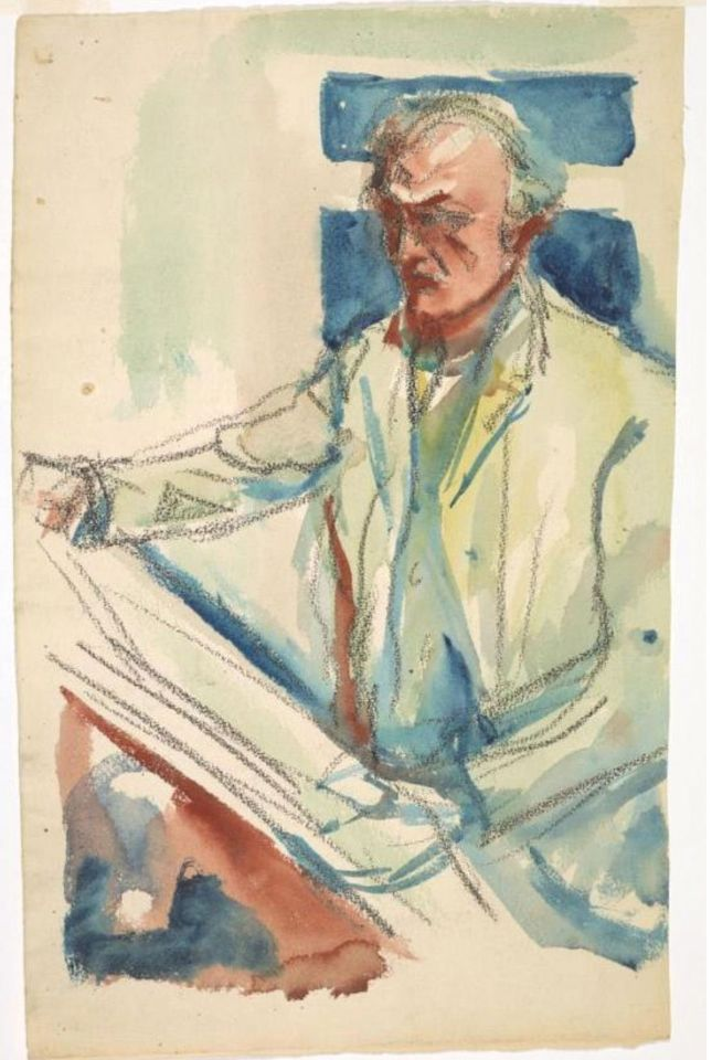 Munch's Self-portrait with Sketchbook (1914-19) is part of the new online database