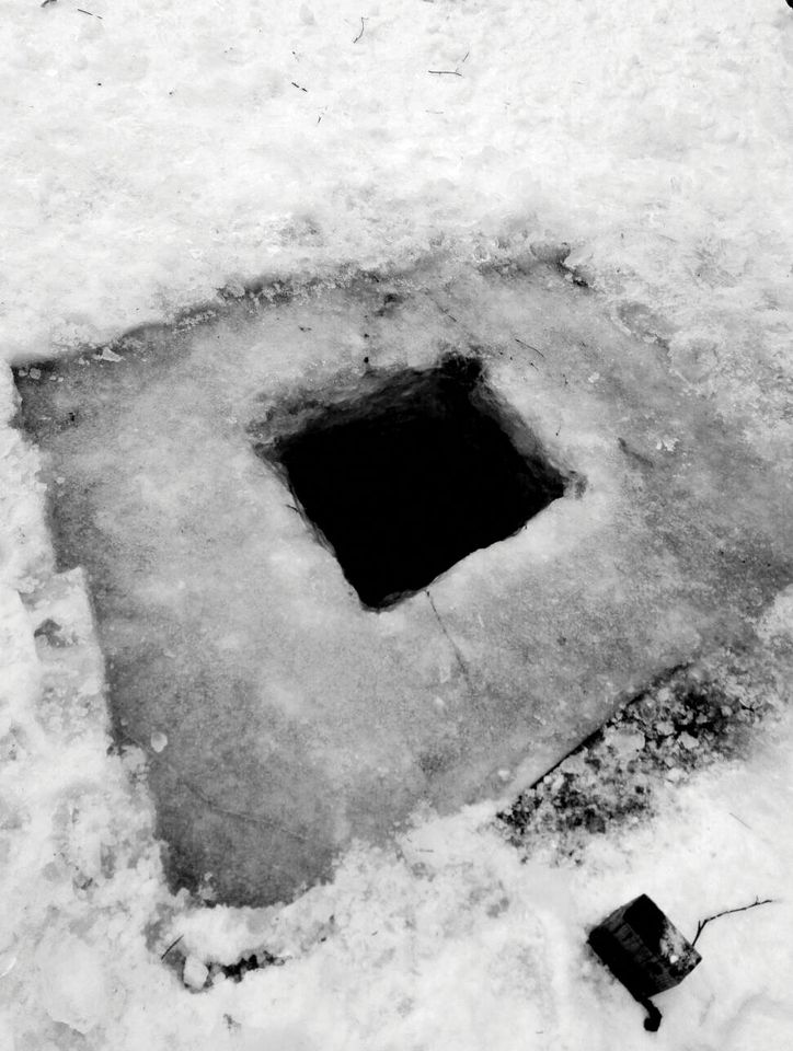 The new commission, A Cold Hole, is made of 14 tonnes of ice and water