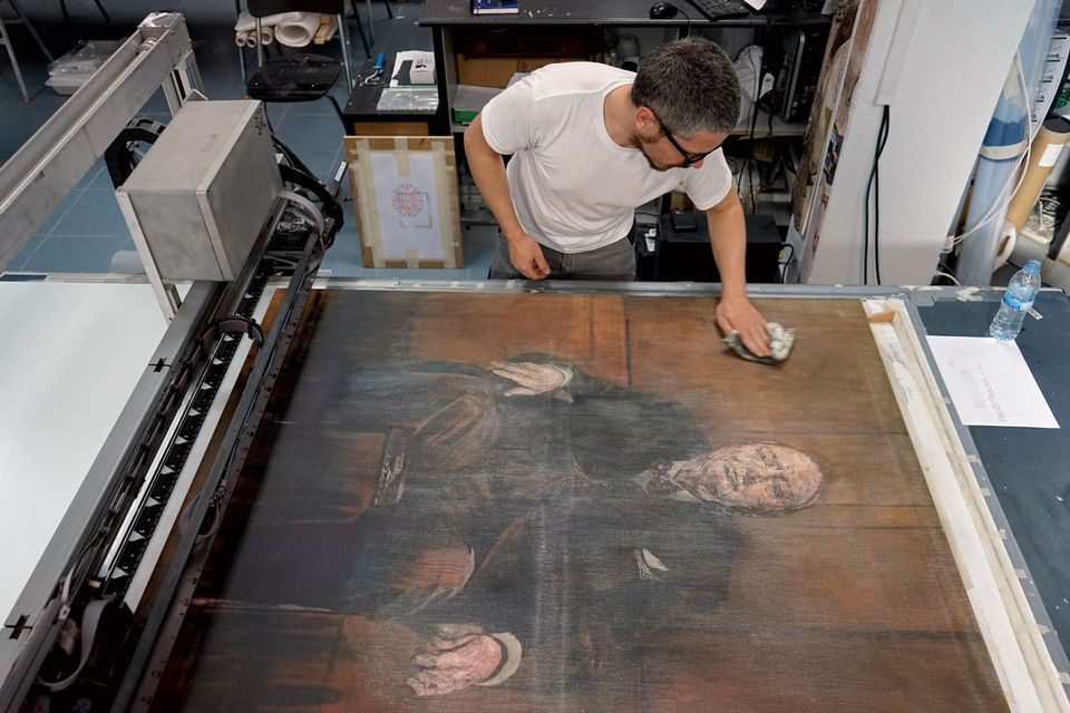 Churchill's wife set fire to the original painting under cover of darkness