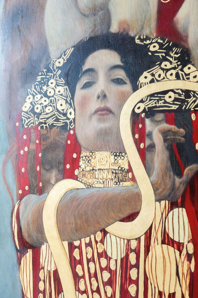 Klimt's Medicine (detail) was rejected by officials from the University of Vienna