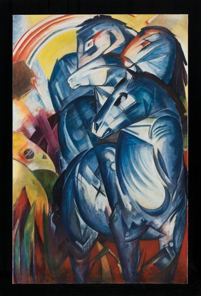Franz Marc's The Tower of Blue Horses (1913)