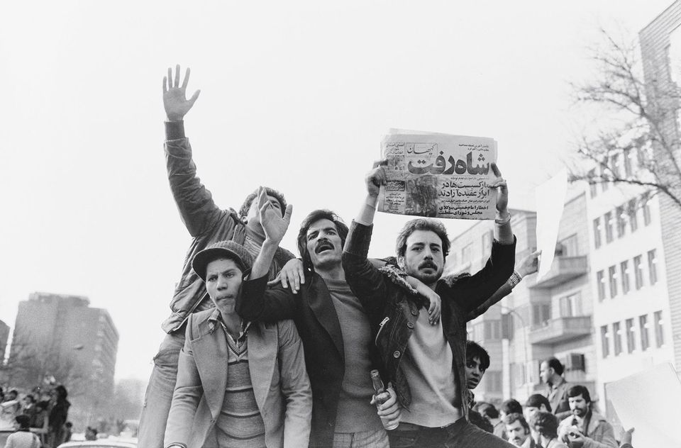 Kaveh Golestan, The Shah Left (1979, printed 2015)