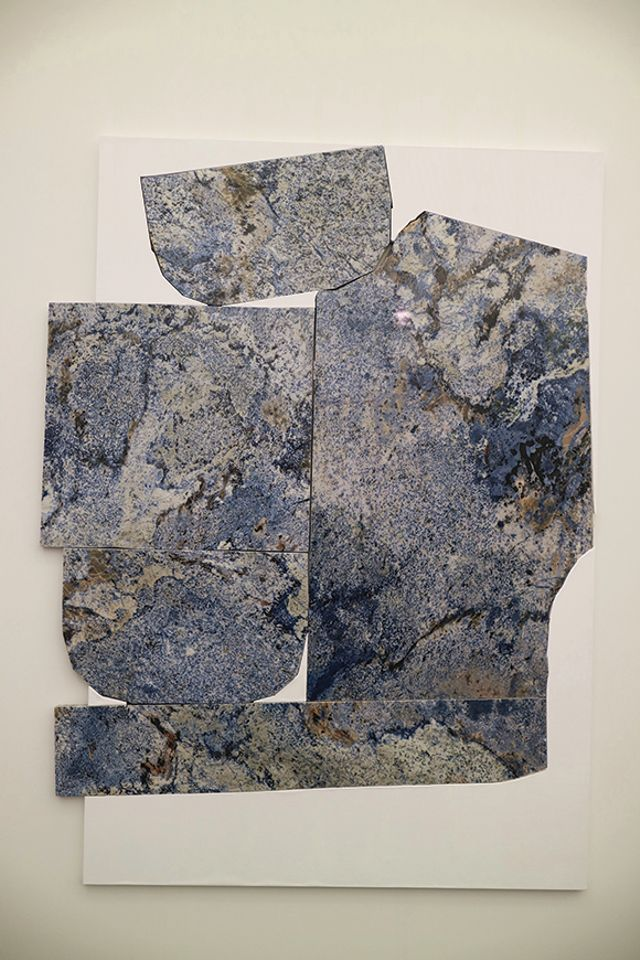 Sam Moyer, Blue Lament, 2018, shown by Sean Kelly at Frieze New York 2018