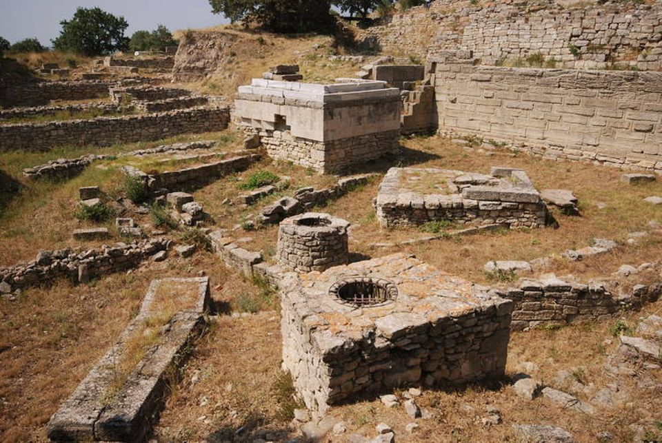 Ruins in the Unesco recognised archaeological site of Troy in Turkey