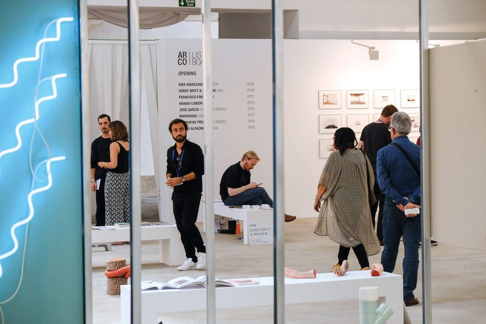 View of Opening, a section focused on young galleries, at Arcolisboa in 2017
