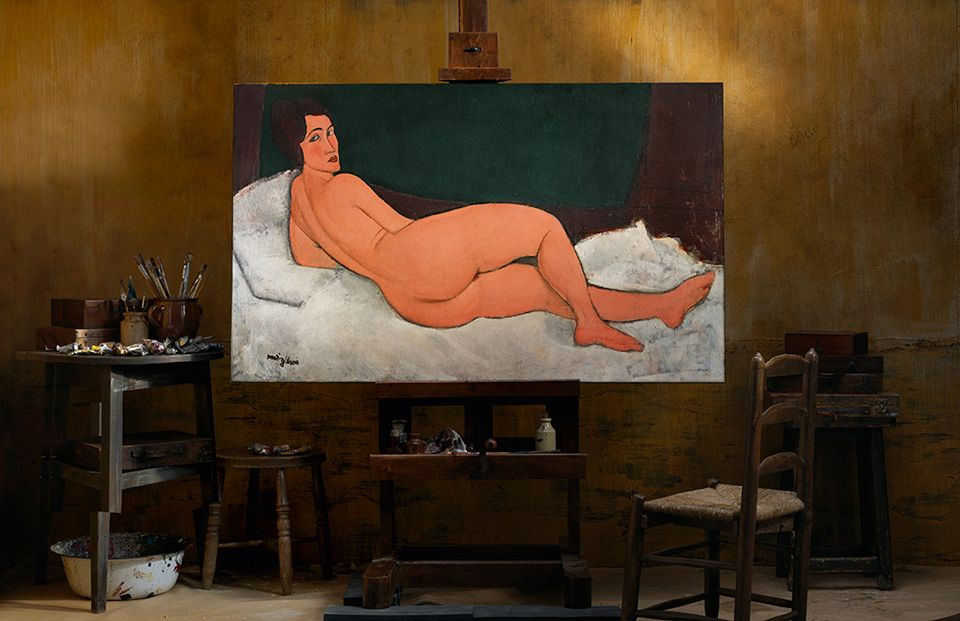 Nu couché (sur le côté gauche) (1917), one of Amedeo Modigliani's famous nudes, which will be offered Sotheby's New York on 14 May with an estimate in excess of $150m