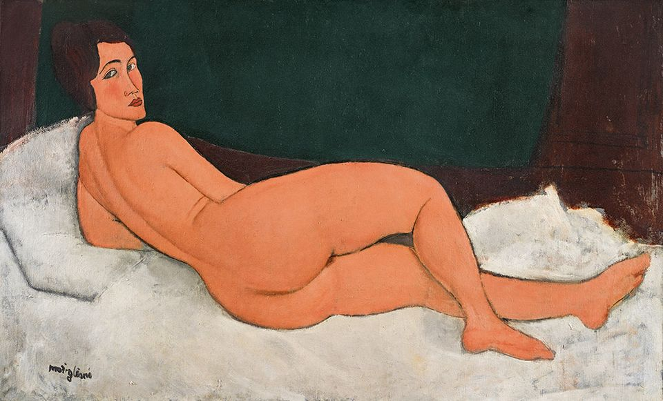 Amedeo Modigliani, Nu couché (sur le côté gauche) (1917), sold for $157.2m