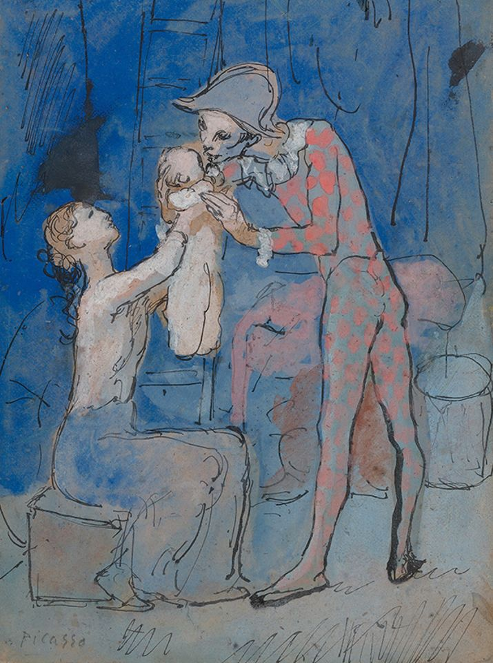 Picasso's Famille d'Arlequin (1905), a rare Rose Period gouache, made $11.5m