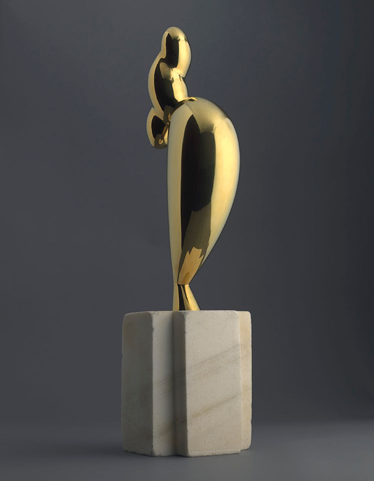 Brancusi's brass sculpture La jeune fille sophistiquée (Portrait de Nancy Cunard), cast in 1932, set a new record for the artist at $71m