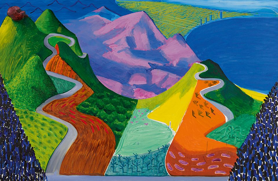 David Hockney's Pacific Coast Highway and Santa Monica (1990) set the second record of the night for the artist with a price of $28.5m