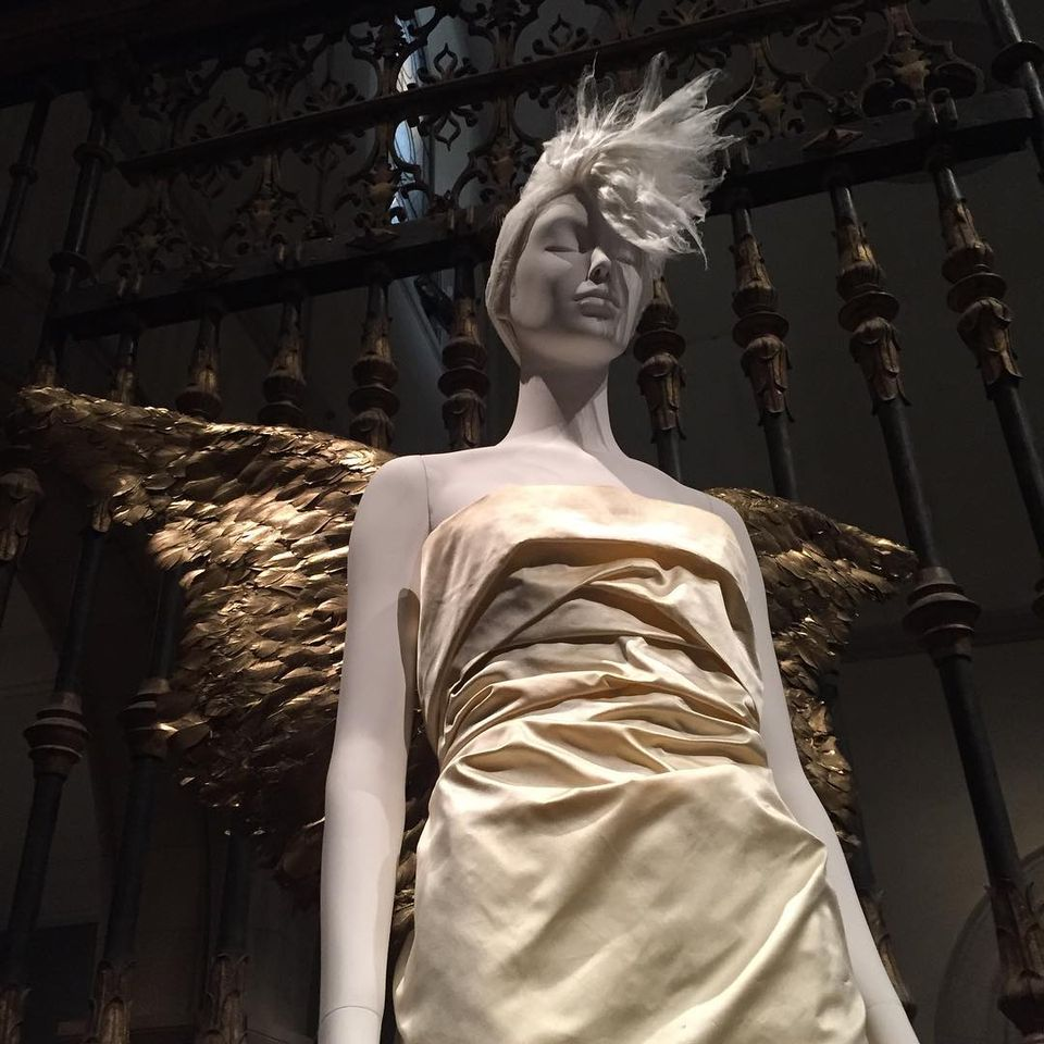 An installation view from Heavenly Bodies: Fashion and the Catholic Imagination at the Metropolitan Museum of Art