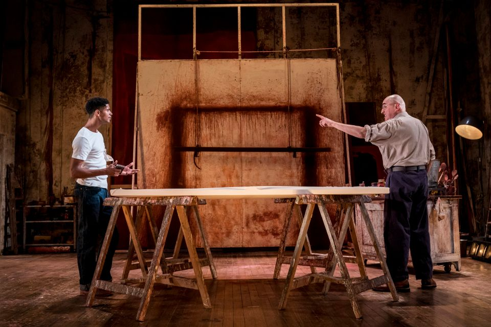 Alfred Enoch as Ken and Alfred Molina as Mark Rothko