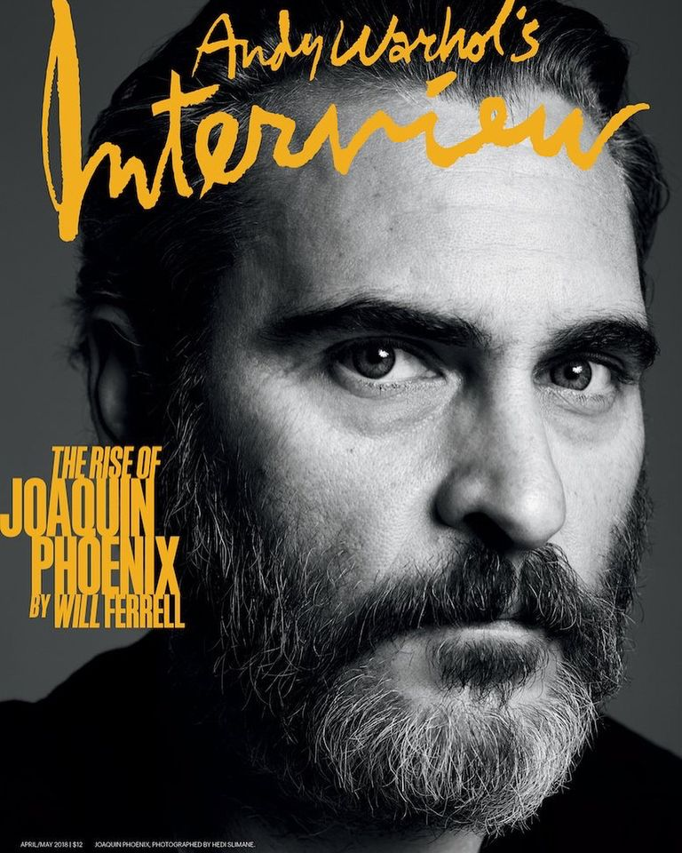 Joaquin Pheonix on the April  May cover Interview magazine