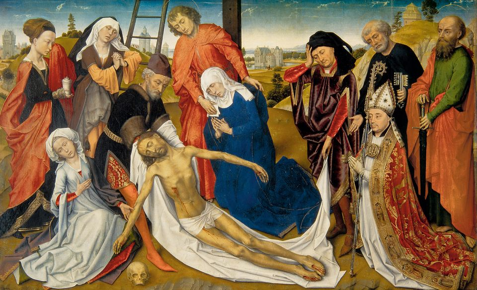 Experts want to establish how much  of The Lamentation of Christ (1460-64) was made by the artist's studio