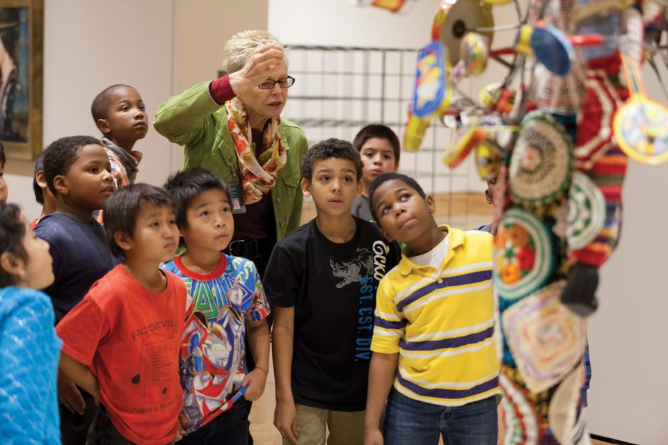 Museum leadership rarely reflects actual demographics. Above, children at the Minneapolis Institute of Art