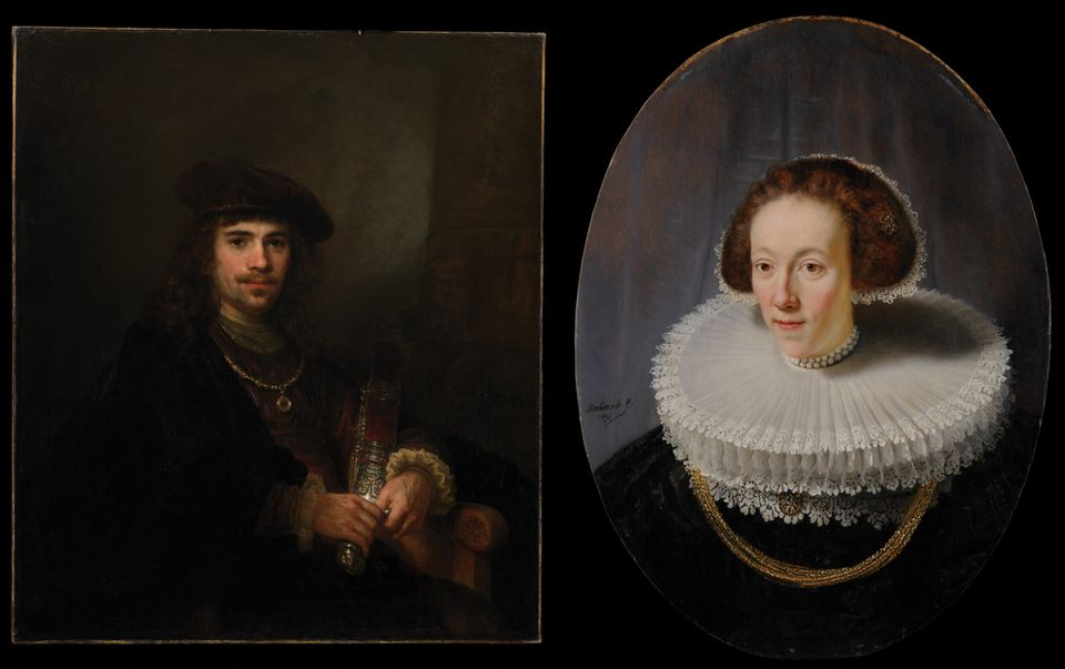 The Portrait of Petronella Buys (1635) and Man with a Sword (around 1640-44)