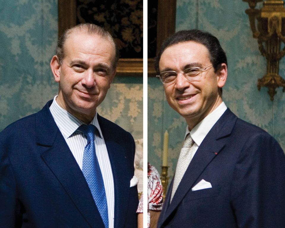 Olivier (left) and Laurent Kraemer have been charged in an ongoing investigation into allegedly fake Louis XIV furniture