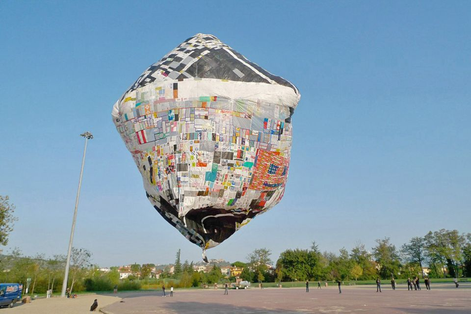 Tomás Saraceno's Museo Aero Solar (2007), which is made from plastic bags