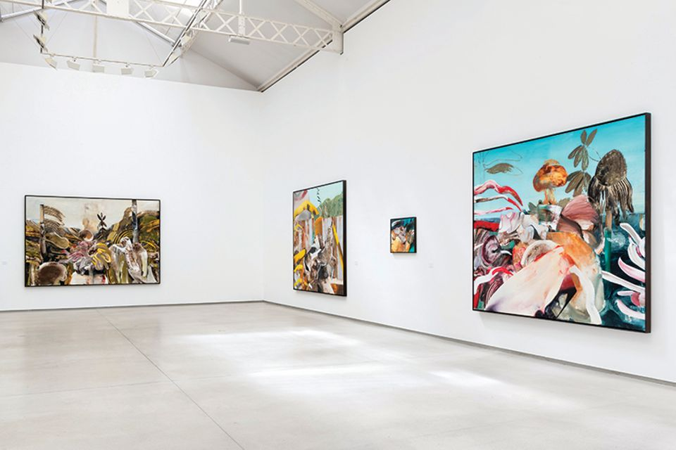 "Installation shot of Adrian Ghenie's exhibition ""Jungles in Paris"