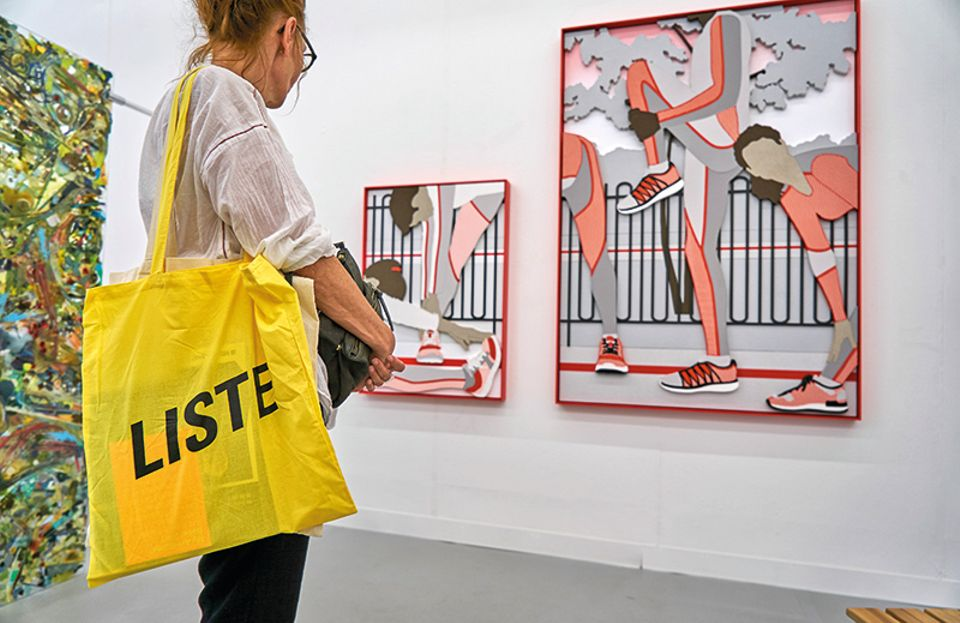 A visitor to LISTE, Basel 2017