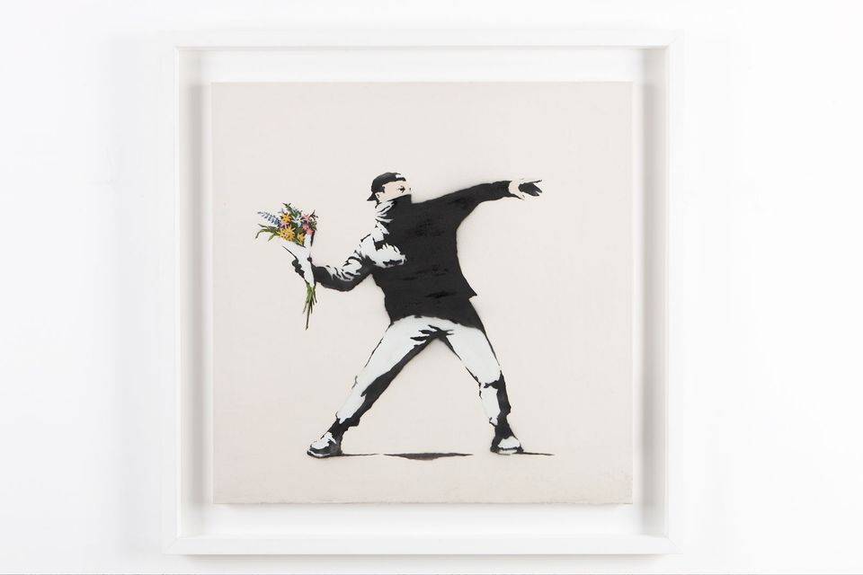 Banksy's Flower Thrower