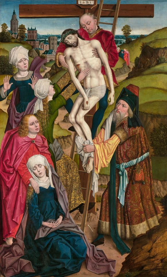 The Descent from the Cross (1480-90) by Derick Baegert