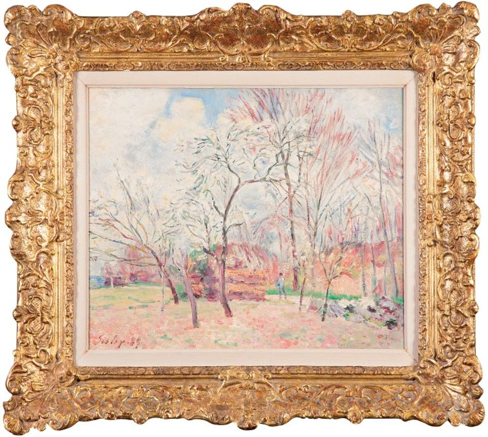 First Day of Spring in Moret (1889) by Alfred Sisley