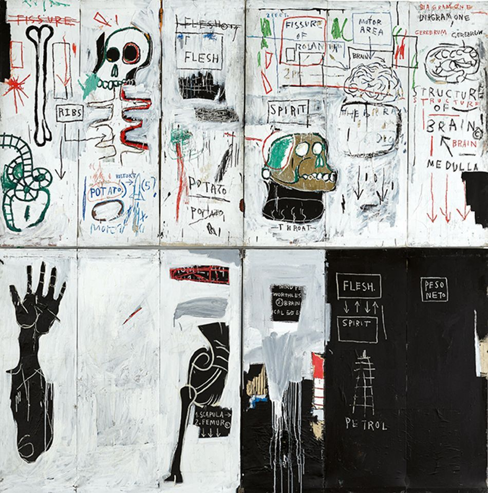 Jean-Michel Basquiat's Flesh and Spirit (1982-83) was offered at Sotheby's New York on 16 May with an estimate in the region of $30m