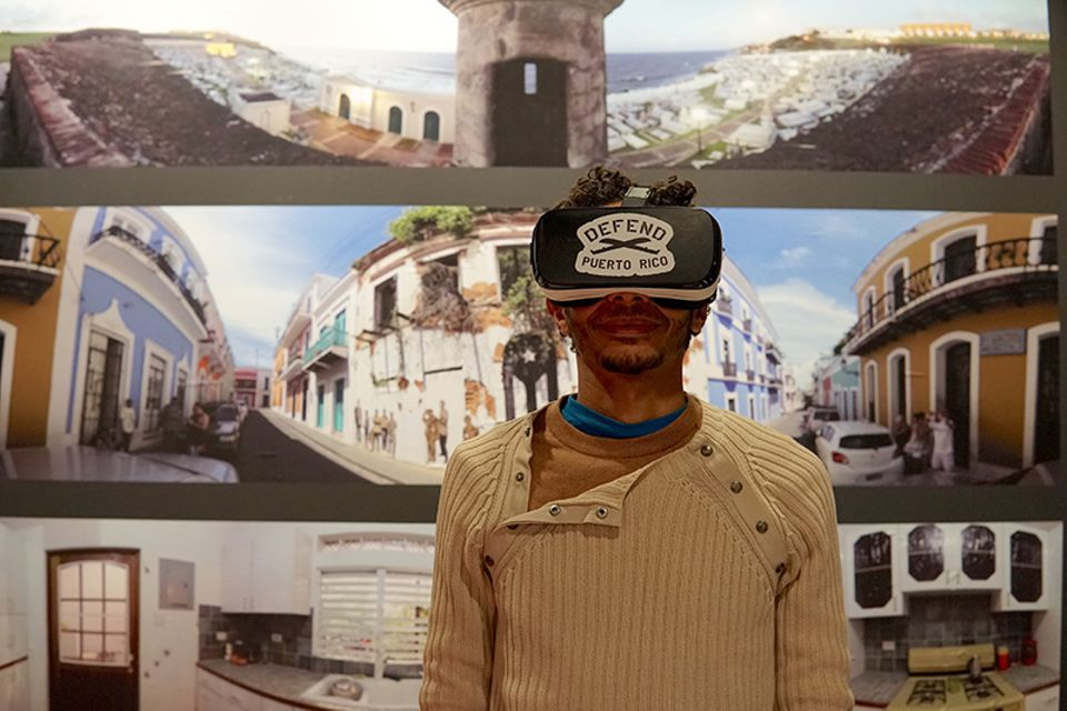 360-degree video experience at the Defend Puerto Rico exhibition
