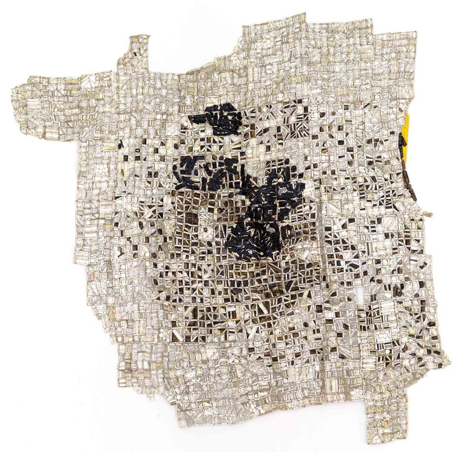 Tse (2016), made from bottle caps by the award-winning Ghanaian artist El Anatsui, is priced at $1.1m with Goodman Gallery at Art Basel this year