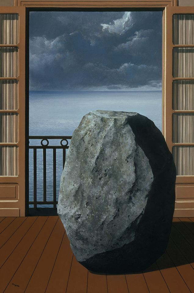 René Magritte, The Invisible World, 1954; oil on canvas; The Menil Collection, Houston